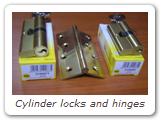 Cylinder locks and hinges